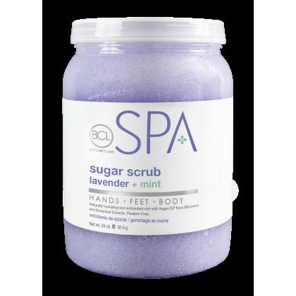 BCL SPA Sugar Scrub Lavender + Mint 64oz