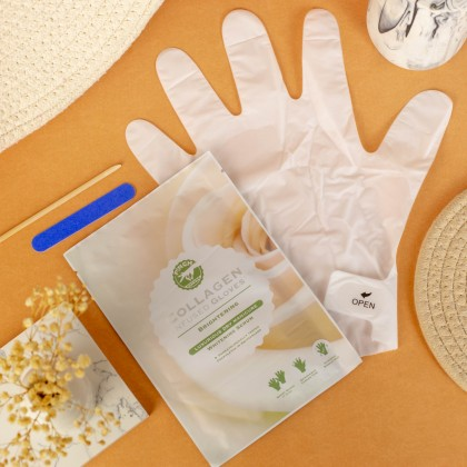 P!NCH Collagen Gloves Whitening (Short Gloves)